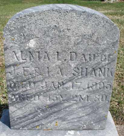 SHANK, ALMA L. - Preble County, Ohio | ALMA L. SHANK - Ohio Gravestone Photos