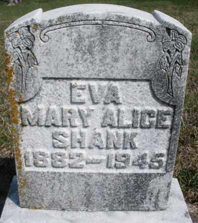 SHANK, EVA MARY ALICE - Preble County, Ohio | EVA MARY ALICE SHANK - Ohio Gravestone Photos