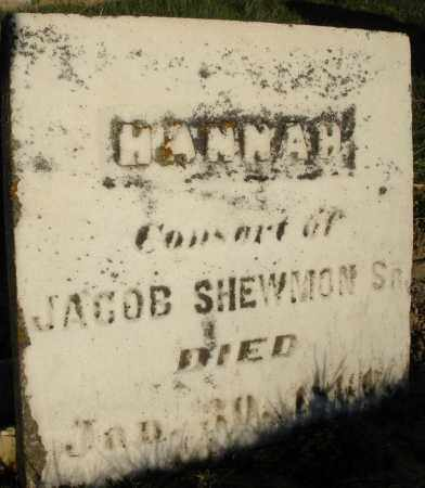 SHEWMON, HANNAH - Preble County, Ohio | HANNAH SHEWMON - Ohio Gravestone Photos
