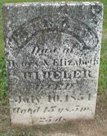 SHIDELER, ELIZABETH - Preble County, Ohio | ELIZABETH SHIDELER - Ohio Gravestone Photos