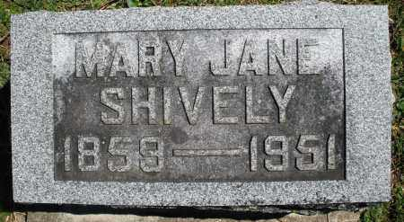 SHIVELY, MARY JANE - Preble County, Ohio | MARY JANE SHIVELY - Ohio Gravestone Photos