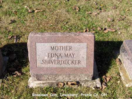 SHIVERDECKER, EDNA - Preble County, Ohio | EDNA SHIVERDECKER - Ohio Gravestone Photos