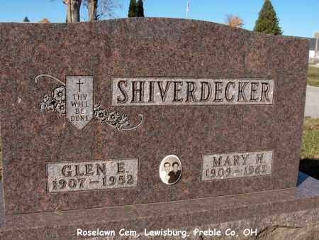 SHIVERDECKER, MARY - Preble County, Ohio | MARY SHIVERDECKER - Ohio Gravestone Photos