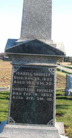 SHURLEY, CHRISTINA - Preble County, Ohio | CHRISTINA SHURLEY - Ohio Gravestone Photos