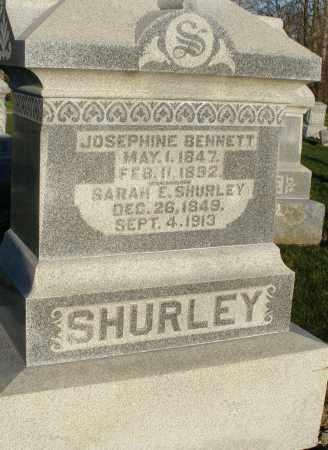 BENNETT SHURLEY, JOSEPHINE - Preble County, Ohio | JOSEPHINE BENNETT SHURLEY - Ohio Gravestone Photos