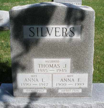 SILVERS, ANNE F. - Preble County, Ohio | ANNE F. SILVERS - Ohio Gravestone Photos