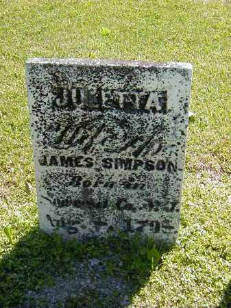 SIMPSON, JULETTA - Preble County, Ohio | JULETTA SIMPSON - Ohio Gravestone Photos