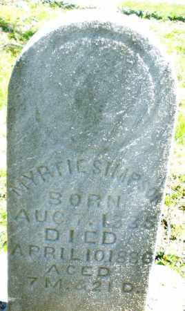 SIMPSON, MYRTLE - Preble County, Ohio | MYRTLE SIMPSON - Ohio Gravestone Photos