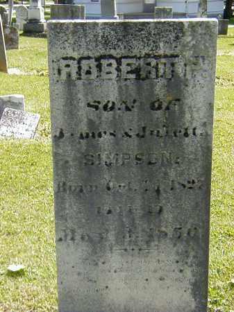SIMPSON, ROBERT P. - Preble County, Ohio | ROBERT P. SIMPSON - Ohio Gravestone Photos