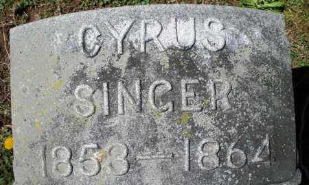 SINGER, CYRUS - Preble County, Ohio | CYRUS SINGER - Ohio Gravestone Photos