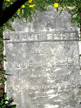 SLIFE, JACOB - Preble County, Ohio | JACOB SLIFE - Ohio Gravestone Photos