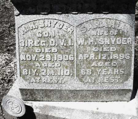 SNYDER, W.H. - Preble County, Ohio | W.H. SNYDER - Ohio Gravestone Photos