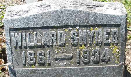 SNYDER, WILLARD - Preble County, Ohio | WILLARD SNYDER - Ohio Gravestone Photos