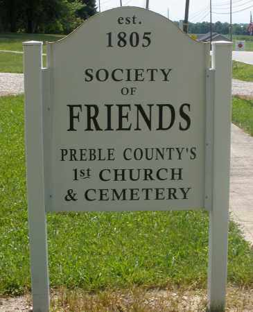 SOCIETY OF FRIENDS, SIGN - Preble County, Ohio | SIGN SOCIETY OF FRIENDS - Ohio Gravestone Photos