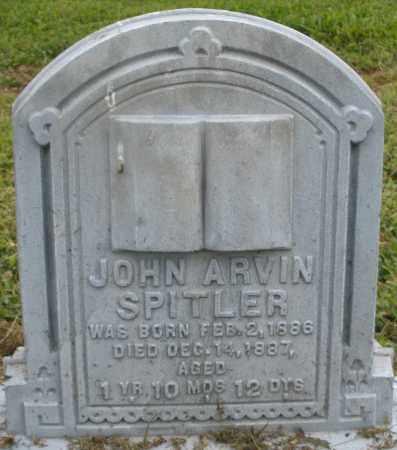 SPITLER, JOHN ARVIN - Preble County, Ohio | JOHN ARVIN SPITLER - Ohio Gravestone Photos