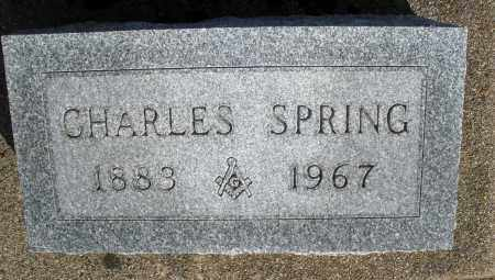 SPRING, CHARLES - Preble County, Ohio | CHARLES SPRING - Ohio Gravestone Photos