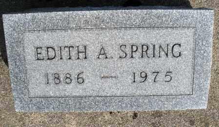 SPRING, EDITH A. - Preble County, Ohio | EDITH A. SPRING - Ohio Gravestone Photos