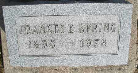 SPRING, FRANCES E. - Preble County, Ohio | FRANCES E. SPRING - Ohio Gravestone Photos