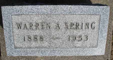 SPRING, WARREN A. - Preble County, Ohio | WARREN A. SPRING - Ohio Gravestone Photos