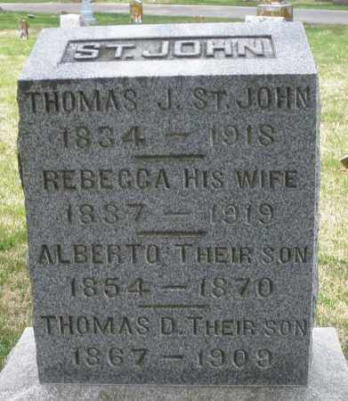 ST. JOHN, THOMAS J. - Preble County, Ohio | THOMAS J. ST. JOHN - Ohio Gravestone Photos