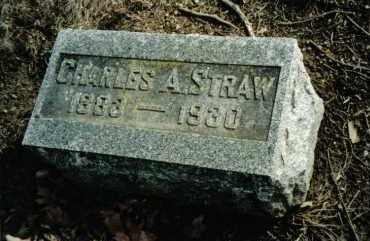 STRAW, CHARLES A. - Preble County, Ohio | CHARLES A. STRAW - Ohio Gravestone Photos