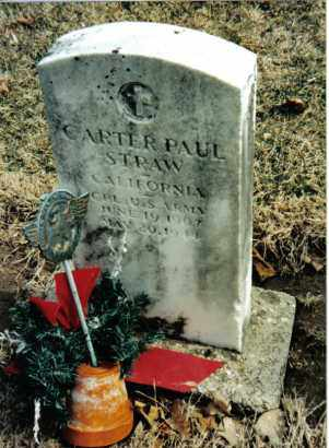 STRAW, CARTER PAUL - Preble County, Ohio   CARTER PAUL STRAW - Ohio Gravestone Photos