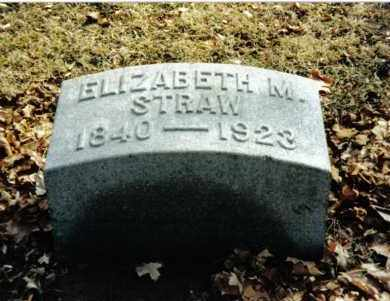 STRAW, ELIZABETH M. - Preble County, Ohio | ELIZABETH M. STRAW - Ohio Gravestone Photos