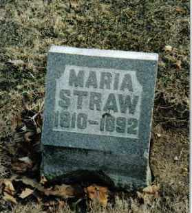 STRAW, MARIA - Preble County, Ohio | MARIA STRAW - Ohio Gravestone Photos