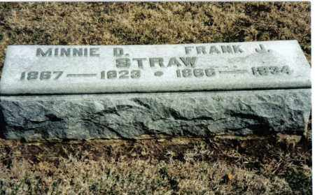 STRAW, MINNIE D. - Preble County, Ohio | MINNIE D. STRAW - Ohio Gravestone Photos