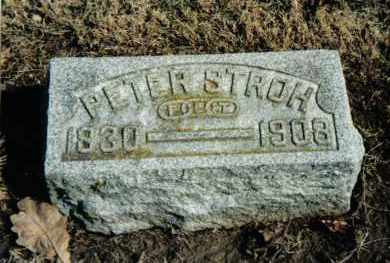 STROH, PETER - Preble County, Ohio | PETER STROH - Ohio Gravestone Photos