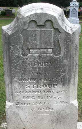 STROUP, HENRY - Preble County, Ohio | HENRY STROUP - Ohio Gravestone Photos