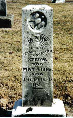 STROW, MARY - Preble County, Ohio | MARY STROW - Ohio Gravestone Photos