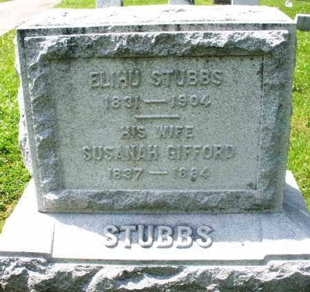 GIFFORD STUBBS, SUSANAH - Preble County, Ohio | SUSANAH GIFFORD STUBBS - Ohio Gravestone Photos