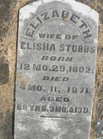 STUBBS, ELIZABETH - Preble County, Ohio | ELIZABETH STUBBS - Ohio Gravestone Photos