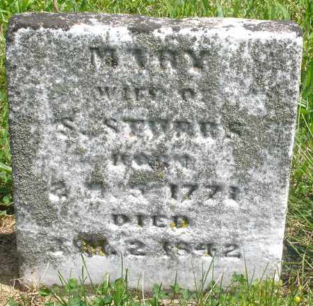 STUBBS, MARY - Preble County, Ohio | MARY STUBBS - Ohio Gravestone Photos
