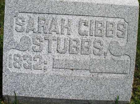 GIBBS STUBBS, SARAH - Preble County, Ohio | SARAH GIBBS STUBBS - Ohio Gravestone Photos