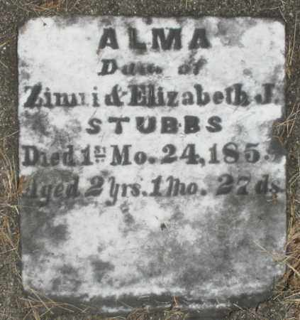 STUBBS, ALMA - Preble County, Ohio | ALMA STUBBS - Ohio Gravestone Photos