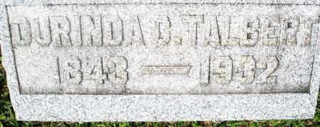 TALBERT, DURINDA - Preble County, Ohio | DURINDA TALBERT - Ohio Gravestone Photos