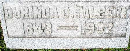 TALBERT, DURINDA - Preble County, Ohio | DURINDA TALBERT - Ohio Gravestone Photos