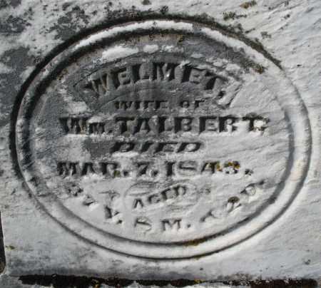 TALBERT, WELMET - Preble County, Ohio   WELMET TALBERT - Ohio Gravestone Photos