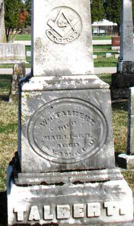 TALBERT, WILLIAM - Preble County, Ohio | WILLIAM TALBERT - Ohio Gravestone Photos