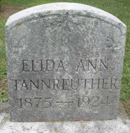 TANNREUTHER, ELIDA ANN - Preble County, Ohio | ELIDA ANN TANNREUTHER - Ohio Gravestone Photos