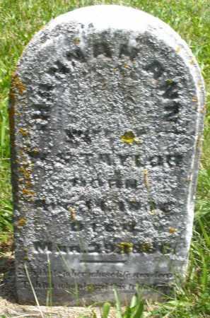 TAYLOR, HANNAH ANN - Preble County, Ohio | HANNAH ANN TAYLOR - Ohio Gravestone Photos