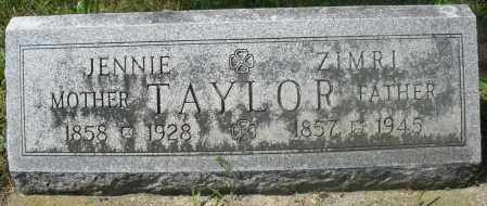 TAYLOR, JENNIE - Preble County, Ohio | JENNIE TAYLOR - Ohio Gravestone Photos