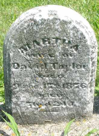 TAYLOR, MARTHA - Preble County, Ohio | MARTHA TAYLOR - Ohio Gravestone Photos