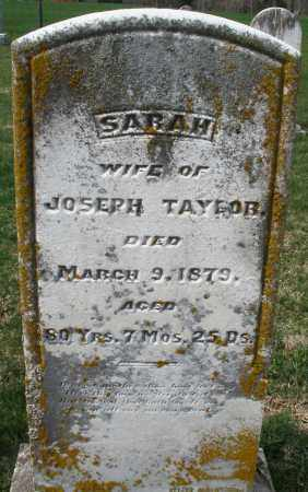 TAYLOR, SARAH - Preble County, Ohio | SARAH TAYLOR - Ohio Gravestone Photos