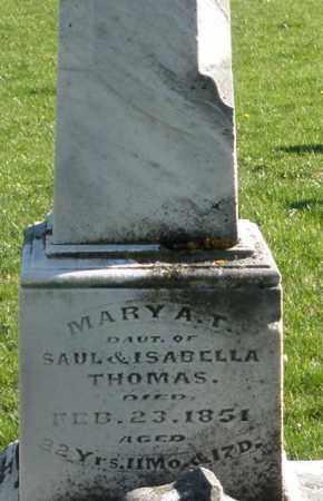 THOMAS, MARY A.T. - Preble County, Ohio | MARY A.T. THOMAS - Ohio Gravestone Photos