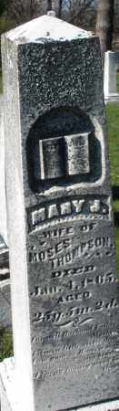 THOMPSON, MARY J. - Preble County, Ohio | MARY J. THOMPSON - Ohio Gravestone Photos