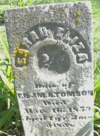 TOMSON, SARAH ELIZABETH - Preble County, Ohio | SARAH ELIZABETH TOMSON - Ohio Gravestone Photos