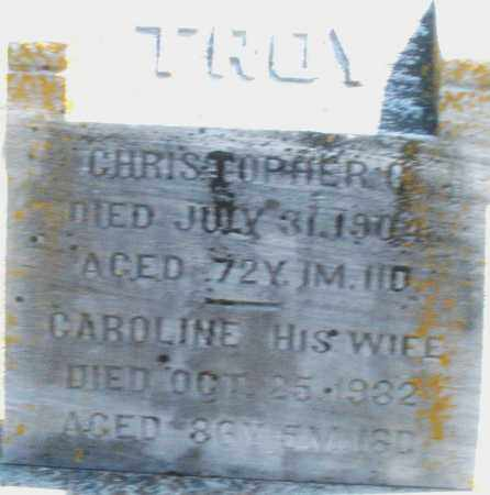 TROY, CAROLINE - Preble County, Ohio | CAROLINE TROY - Ohio Gravestone Photos